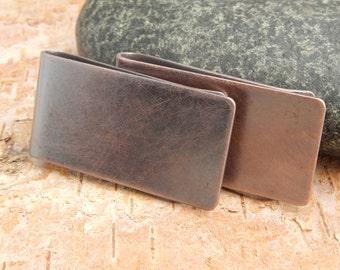 Money clip, copper money clip, plain copper money clip.