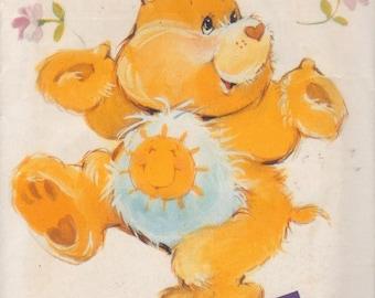 Butterick 6225 1980s FUNSHINE BEAR Care Bear Pattern Vintage Stuffed Toy Animal Sewing Pattern 17 Inches UNCUT