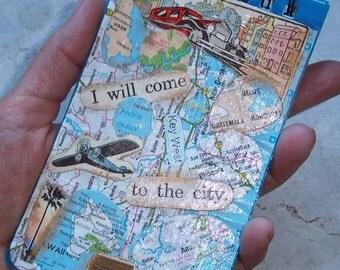 Collage Mini Notebook Travel Theme