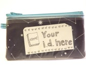 Constellation ID Slot Zipper Pouch