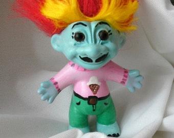 Troll doll altered art