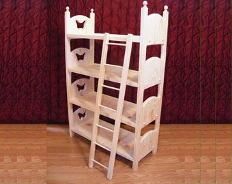 Stackable Butterfly Doll Quad Bunk Bed and Ladder Four American Girl Stacking Beds