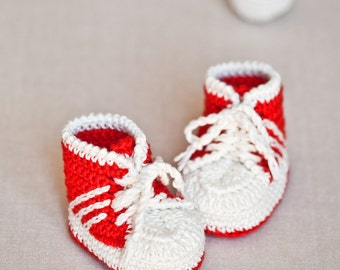 Instant download - Crochet PATTERN for baby booties (pdf file) - Baby Sneakers (tennis shoes)
