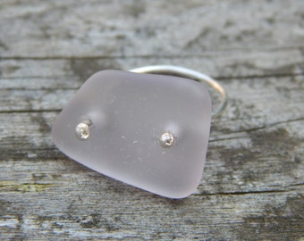 Light Pink/Purple Sea Glass Ring