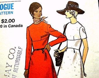 1960s A Line Dress Pattern Vogue Pattern Misses size 14 Bust 36 UNCUT Vintage Sewing Pattern 60s