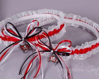 Tampa Bay Buccaneers Lace Wedding Garter Set
