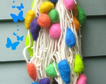 Handspun Art Yarn  Balloons by Fiber Artist GERRY