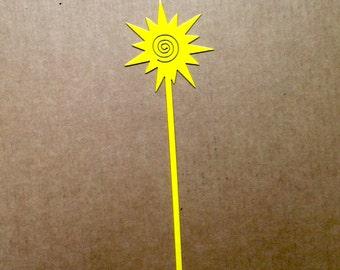 Swirl Sun Metal Garden Stake  (B8)