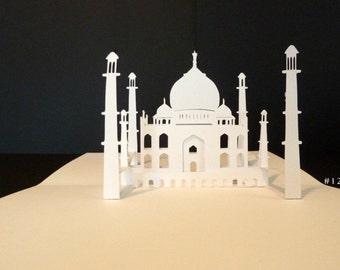 Taj Mahal Pop-Up Card 180 degrees- -ITEM 1209-3 A9
