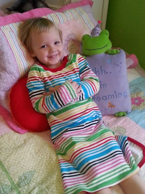 Riley's Nightgown and Sleep Shirt for Girls and Boys Sizes NB-18 .PDF Sewing Pattern