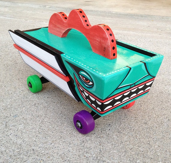 Funk Totem Transport - Original Mixed Media Totem Toy - Transport - Sculpture
