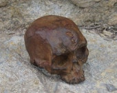Bronze Skull with Rusty Antique Patina