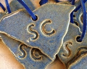 South Carolina State Keepsake Ornament, Handcrafted and Handglazed by Edgefield Artist Jane Bess