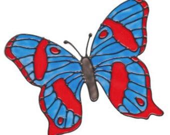 Blue Tiger Butterfly Window Cling