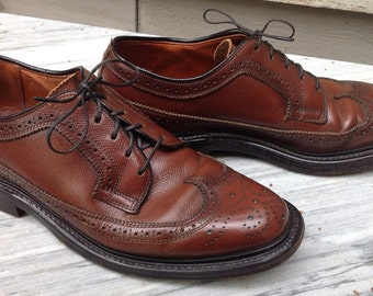 VINTAGE CAVALIER WINGTIPS Mens Shoes Brown Size 8 Longwings