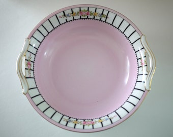 Pink Hand-painted Serving Dish