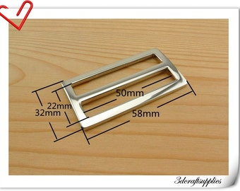 2 inch (inner size) Nickel alloying rectangle sliders strap adjuster  10pcs 3mm thickness U28