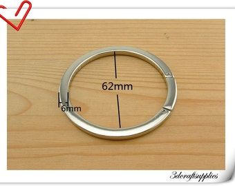 Nickel Flat screw on round ring O ring Gate ring   2.5 inch  2 pieces U127