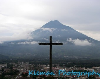 Antigua Guatemala Cross #4 Greeting Card-READY TO SHIP