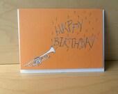 Orange Trumpet  Birthday Card