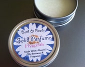 Hyacinth Solid Perfume  Natural Ingredients in Reuseable Tin