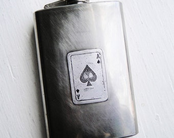 Ace of Spades 3.5 oz Flask