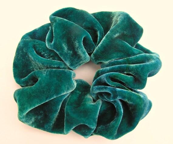 https://www.etsy.com/listing/171850074/silk-velvet-scrunchieemerald-green