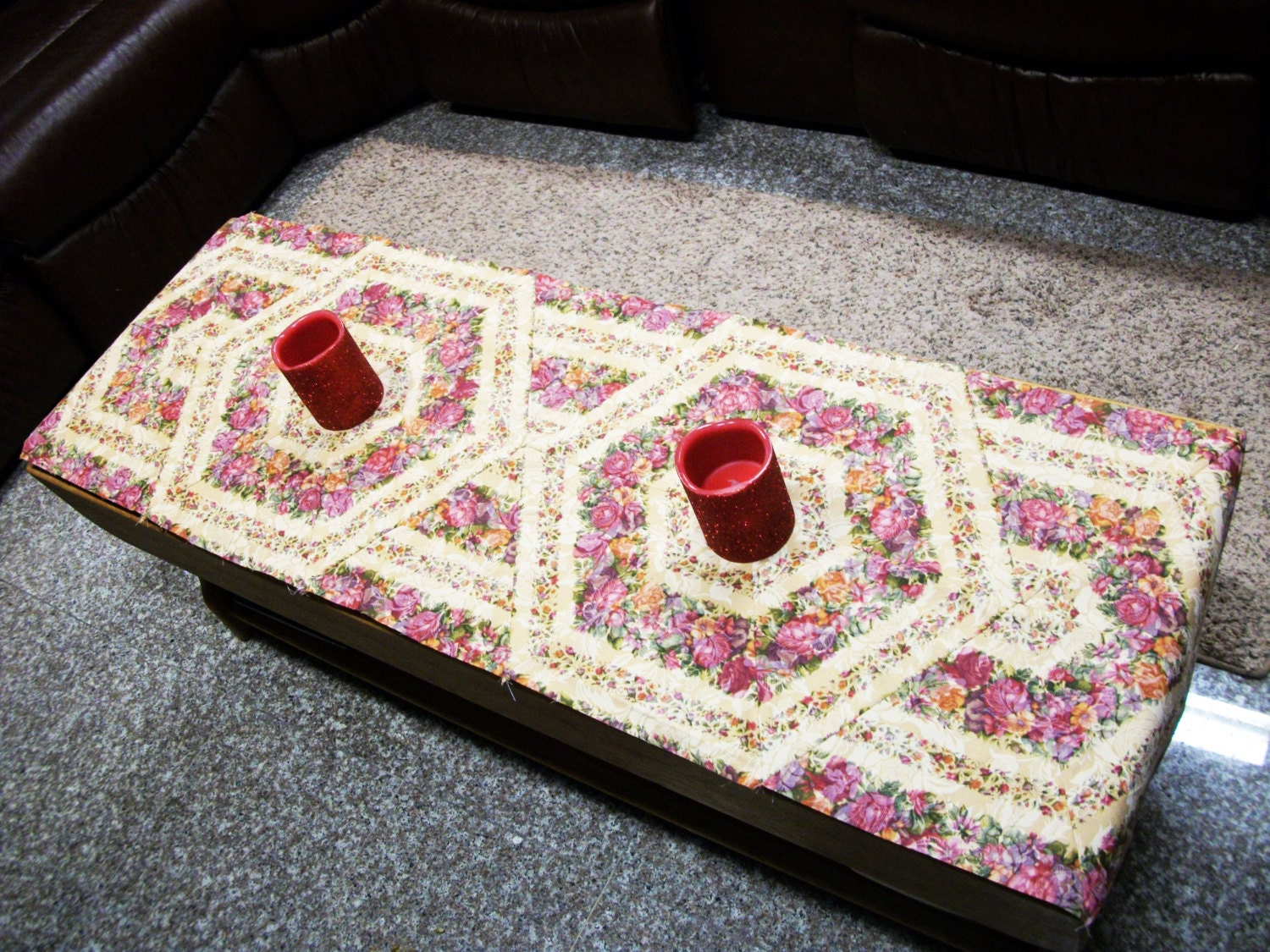 Easy Triangle Coffee Table Runner Pdf Pattern From