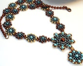Beading Tutorial, Necklace tutorial, Super Twin Delight Necklace tutorial, ENGLISH  Instant Download, twin beads pearls and seed beads