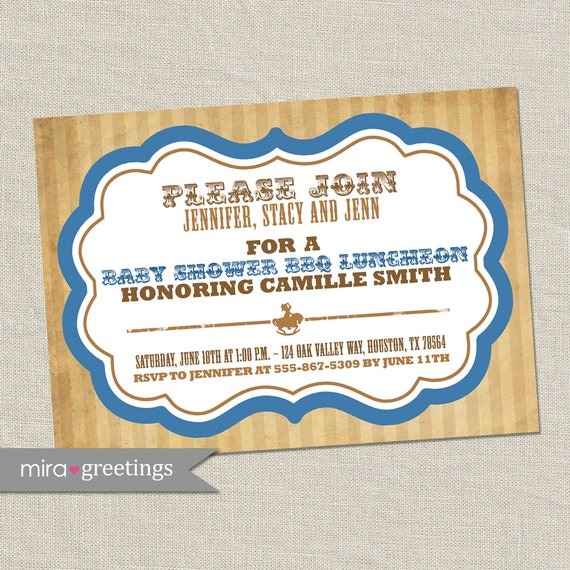 cowboy baby shower invitations birthday invitation western boy