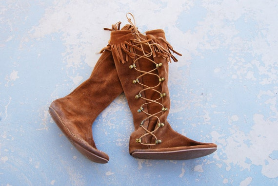 Creative Shop Leather Moccasin Boots For Women On Wanelo