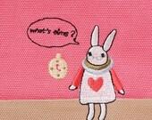 Mr.White Rabbit  zipper pouch