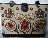 Enid Collins Vintage Bucket Handbag  ... Paisley