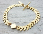 Andromeda Bracelet, geometric bracelet, chevron, chic jewlery