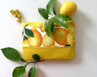 Freshly Picked Lemon Pouch Purse