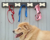 Christmas leash holder pet accessories hooks personalized leash holder, Valentines gift dog lovers wall hooks personalized pups' names hook