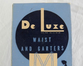 Vintage De Luxe waist and garters braces for boys and girls circa 1940s