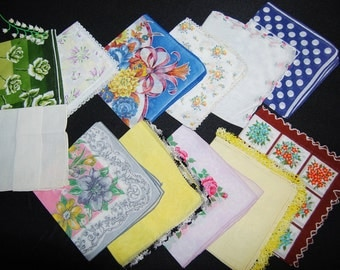 Vintage Hankies Garden of Love Collection.......Twelve