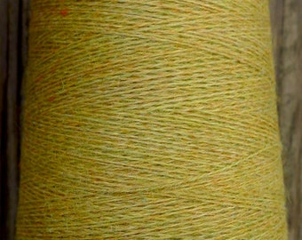 cashmere wool blend yarn 24 S/2 lace weight, olive