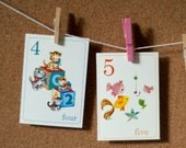 Counting from 1-10 Flash Cards - 3x4