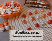 Halloween Matching Game-Chocolate Wraps-chocolates-A SWEET Halloween Game for home or school