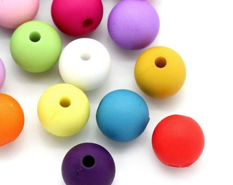 Round Matte Acrylic Beads - Package of 100 - 10mm - #RB125