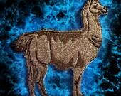 Epic Chocolate Brown Llama Lama glama  Iron on Patch