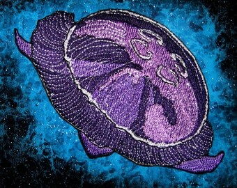 Purple Moon Jelly Jellyfish Iron on patch