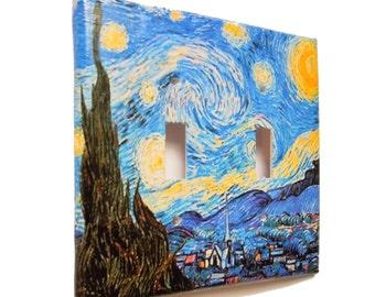 Switchplate Covers, Van Gogh, Starry Night, Switch Cover Single, Switchplates, Double switchplate cover, Van Gogh