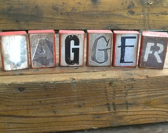 Custom-Made Picture Letters Name Blocks, Baby Gift