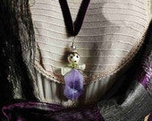 amethyst angel- pendant / natural gemstone crystal -  art to wear