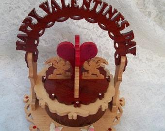 Valentine music box OOAK