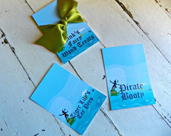 Neverland Tented Labels...Set of 12 Tented Labels