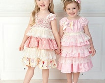 GIRLS CLOTHES PATTERN / Make Boutique Style Dress and Headband / Sizes 2 to 6X